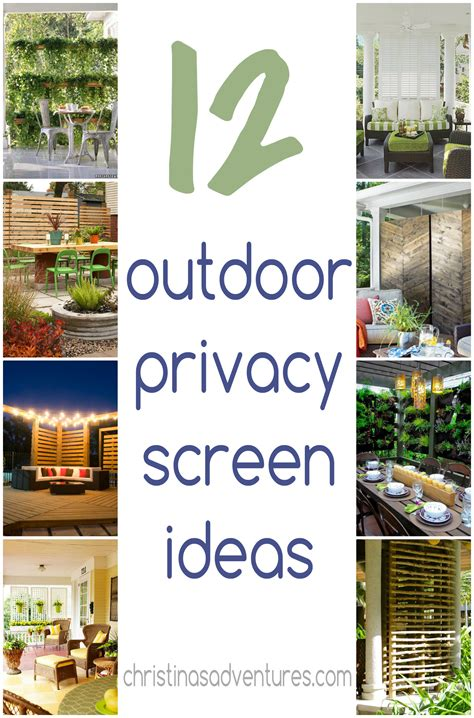 Garden Screening Privacy Ideas Outdoor Privacy Screen Ideas Christinas Adventures