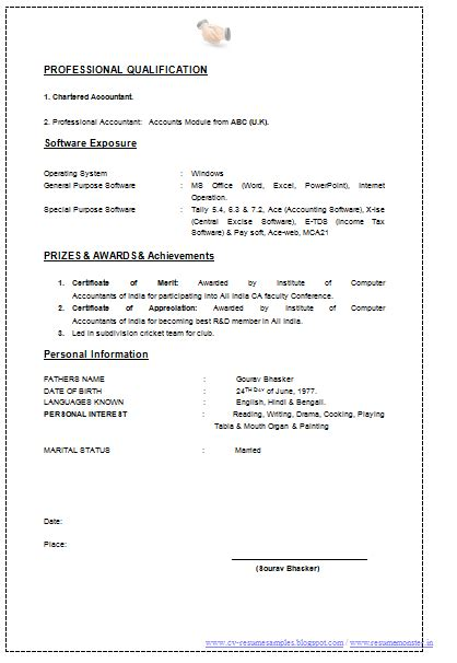 Best Resume Sles For Chartered Accountants Best Resume Format For Chartered Accountant 28 Images Chartered Accountant Resume Template 5