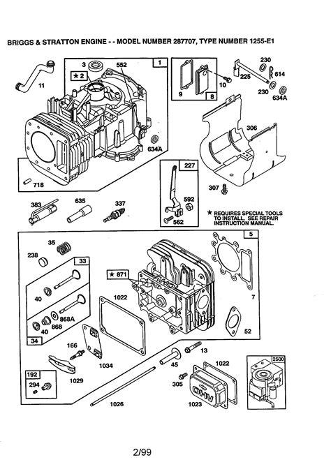 Briggs Amp Stratton Briggs And Stratton Engine Parts Model