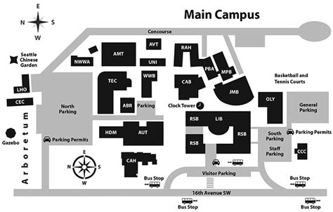 seattle univ map cus map south seattle college