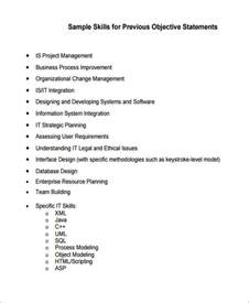 General Resume Objective Statement by Generic Resume Objective 5 Exles In Word Pdf