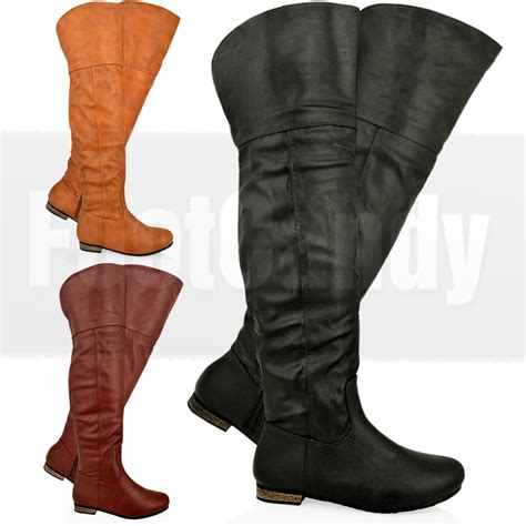 low heel thigh high boots womens the knee thigh high low heel zip winter