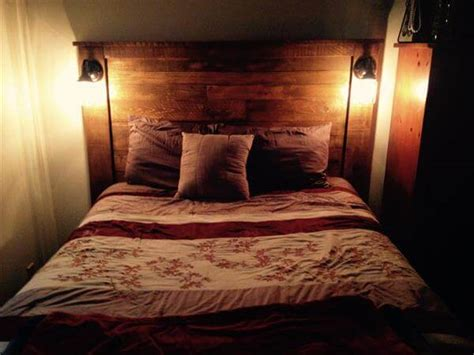 beds with lights in headboard diy pallet headboard with lights 101 pallets