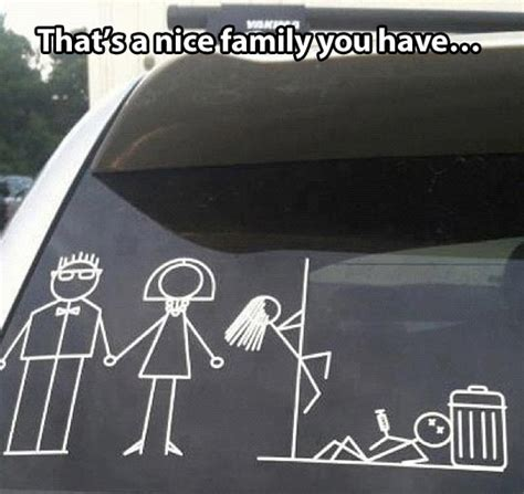Car Memes Stickers - typical family problems