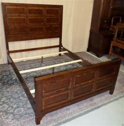 bed side rails for queen size bed banded mahogany paneled queen size bed headboard footboard side rails slats
