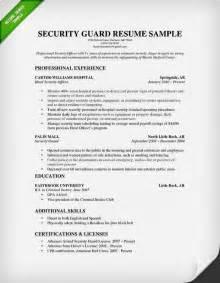security officer resume sle jennywashere