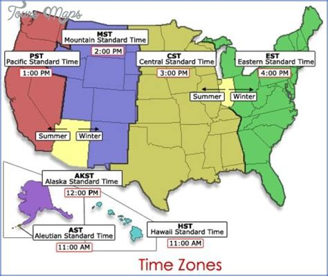 map of usa with states and timezones paraguay time zone map toursmaps