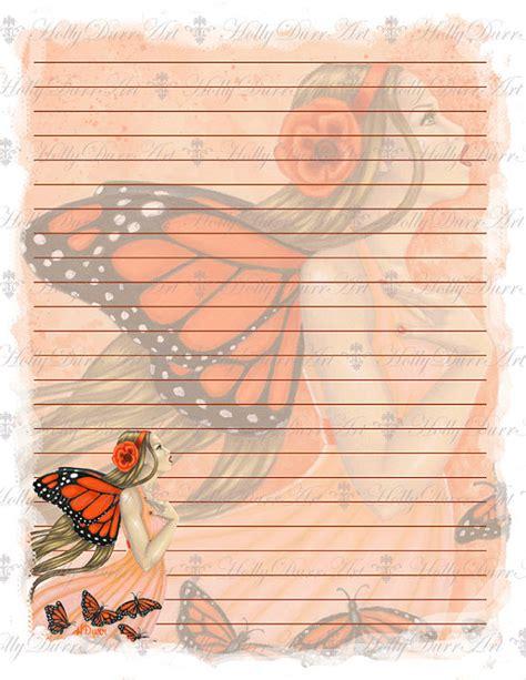 printable fairy stationary items similar to fairy printable stationery paper digital