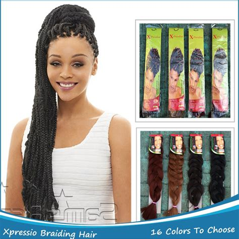 super x braids wholesale 100pcs lot ombre kanekalon x pression braid hair 82 quot 165g