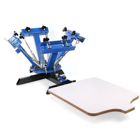 4 Color 1 Station Silk Screen Printing Press Right Angle