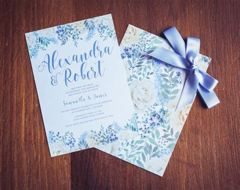 Baby Blue Wedding Invitations