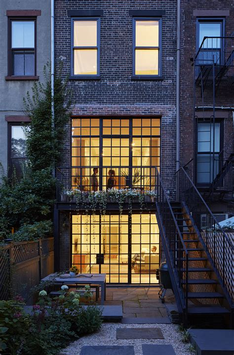 home design firm brooklyn carroll gardens townhouse lang architecture archdaily