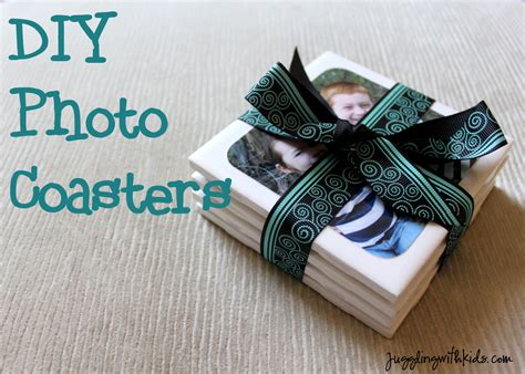 diy coasters diy photo coasters for father s day juggling with kids