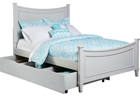 Grey Bed With Mattress Place Gray 4 Pc Bed W Trundle Trundle Beds