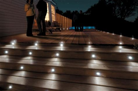 Patio Deck Lights Paradise Six 12 Volt Led Deck And Stair Light Kit