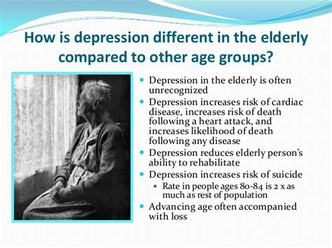 how to a service for depression depression in the elderly