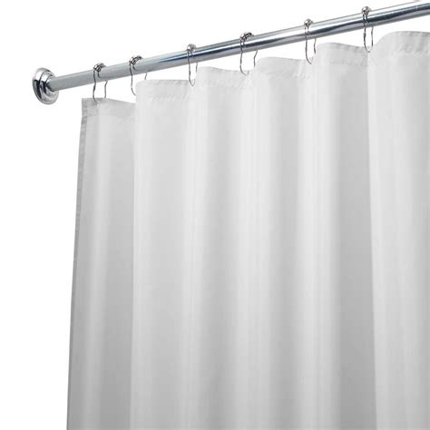long shower curtain liner interdesign poly waterproof long shower curtain liner in