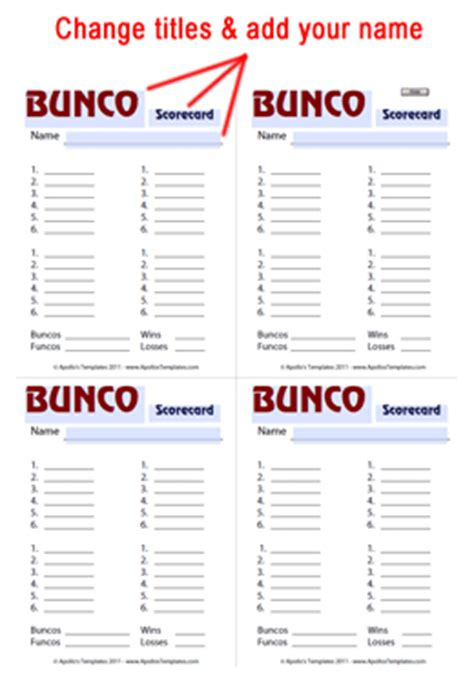 bunco templates free printable bunco score sheets my