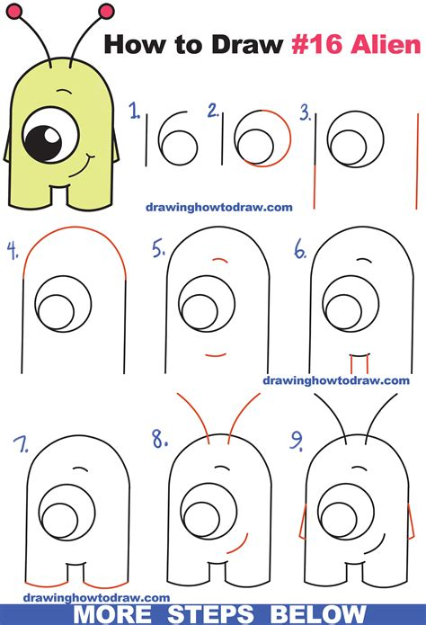 how to draw step by step for beginners how to draw from numbers quot 16 quot easy step