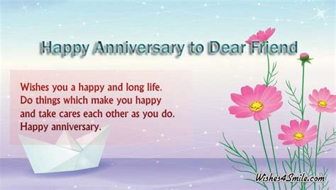 wedding anniversary ecards for friend happy anniversary wishes for friend wishes4smile