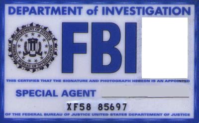 fbi id card template how to make a fbi id card software and