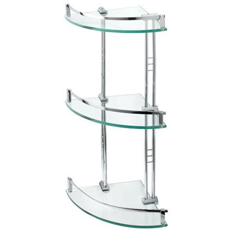 corner shelves bathroom engel tempered glass corner shelf three shelves bathroom