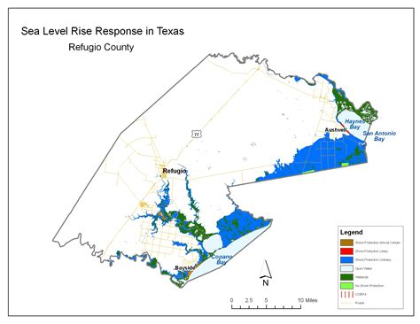 refugio texas map sea level rise planning maps likelihood of shore protection in florida
