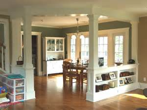 Dining Room Columns by Low Walls Interior Columns