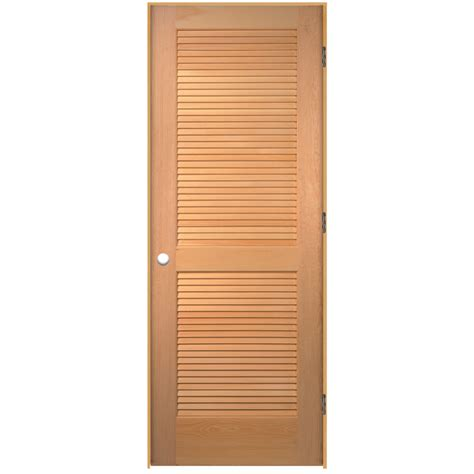 Shop Reliabilt Prehung Solid Core Full Louver Pine Louvered Doors Closet