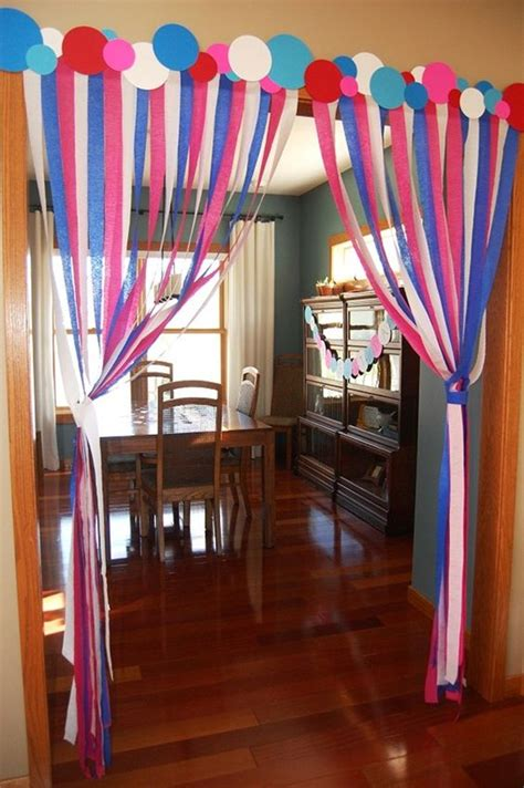 streamer curtains 40 beautiful ways to decorate with streamers for special