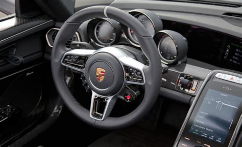 porsche 918 spyder interior car and driver