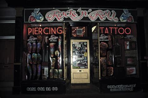 edinburgh tattoo gun run rock n roll tattoo glasgow studio profile big tattoo