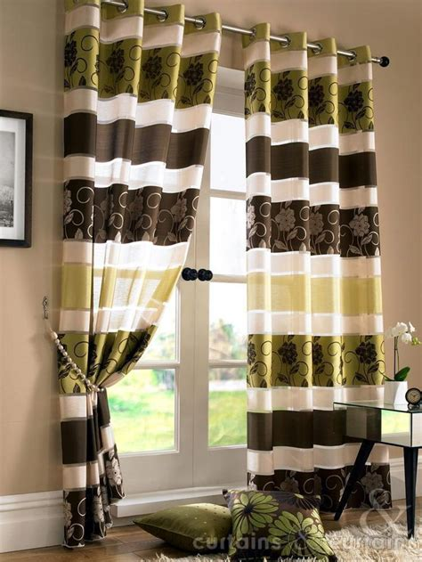 brown green curtains 1000 ideas about brown eyelet curtains on pinterest
