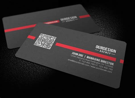 Free Business Card Template With Qr Code by Rounded Corner Qr Code Business Card By Glenngoh On Deviantart