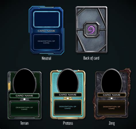 Concept Of Future Credit Card by Hearthstone Starcraft 2 Skin Concept On Behance