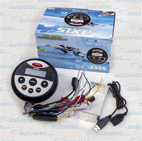 boat fm radio axis ma1202 boat marine am fm radio waterproof bluetooth