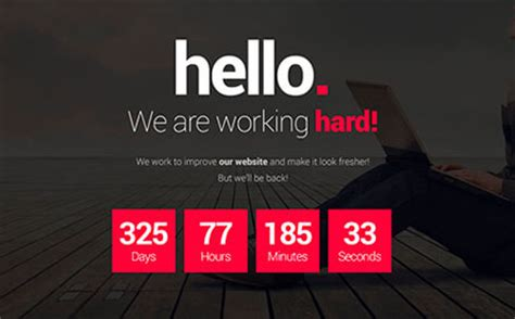free coming soon html template 2 psd included