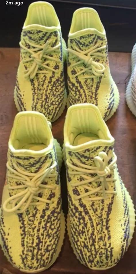 Fast Po Adidas Yeezy 350 V2 Semi Frozen Yellow Ua Version west yeezy boost 350 v2 semi frozen yellow blue tint sneaker bar detroit