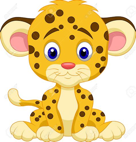 Bebé Leopardo De Dibujos Animados Ilustraciones