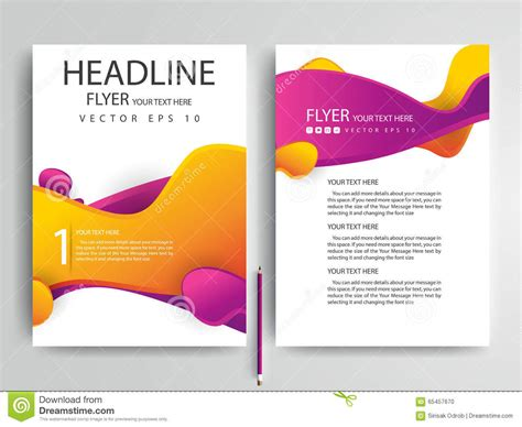 design template abstract vector modern flyers brochure design templates