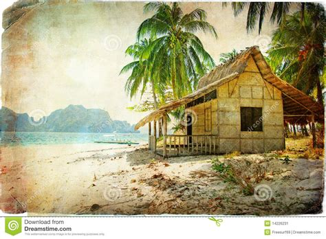 Tropical Hut Tropical Hut Stock Image Image 14226231