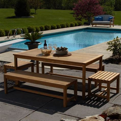 72 outdoor dining table brunswick 72 teak rectangle dining table