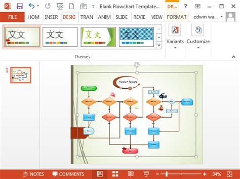 powerpoint make template flowcharts in powerpoint