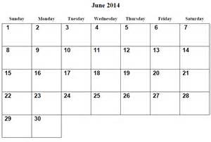 free printable calendar template 2014 7 best images of free printable monthly calendars june