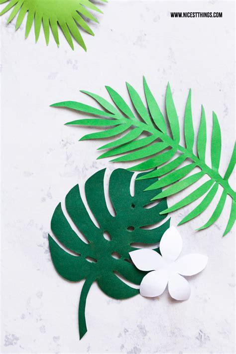 printable tropical leaves diy exotische bl 228 ttergirlande eierlik 246 r maracuja