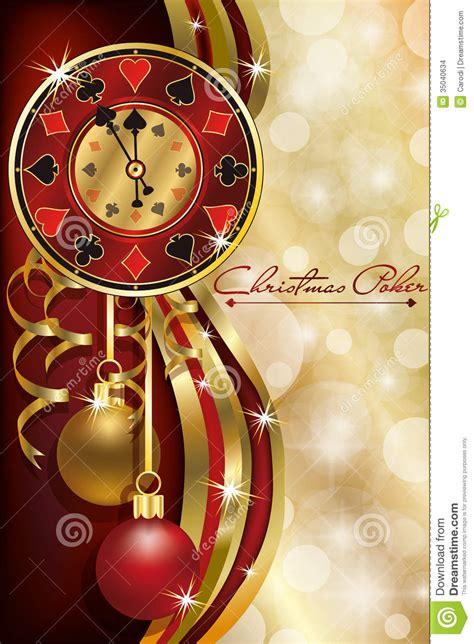 christmas poker casino background stock images image