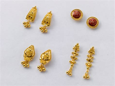 light weight gold earrings designs with price simple gold earrings designs with price 5pcs lot top