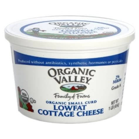 cottage cheese cholesterol organic valley cottage cheese small curd 2 low