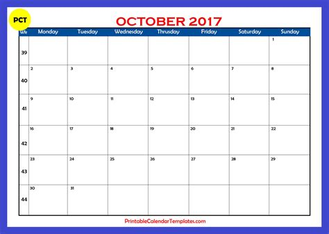 Calendar Craze October 2017 Calendar Craze Free Calendar 2017