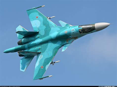 Russian Air Force One by Su 34 Fullback Fighter Bomber Aircraft Military Aircraft